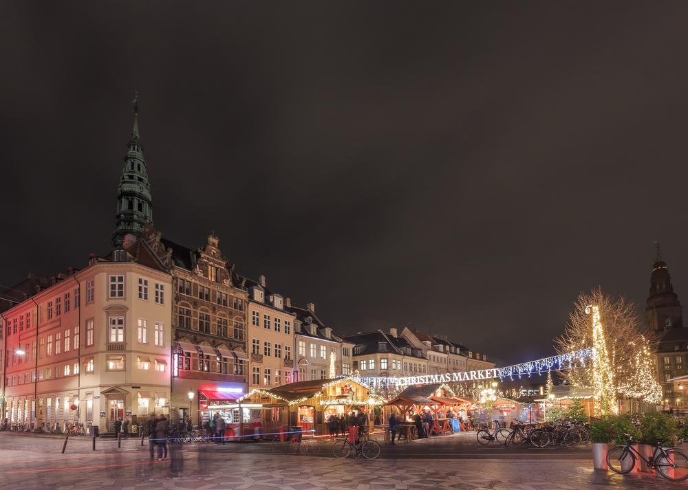 Νωχτερινο τοπίο στην Κοπενχάγη. Τοπ χειμερινοί προορισμοί
