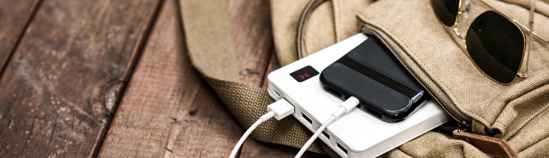 Το powerbank είναι ένα απο τα πιο χρήσιμα travel gadgets