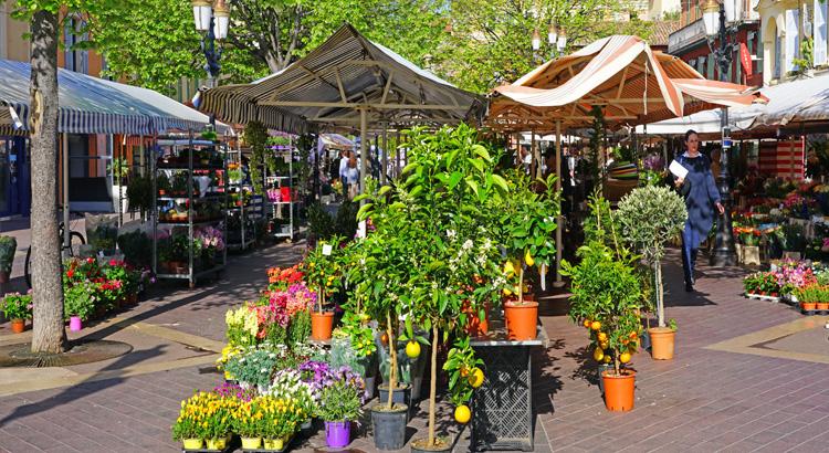 Αγορά Cours Saleya στη Νίκαια της Γαλλίας
