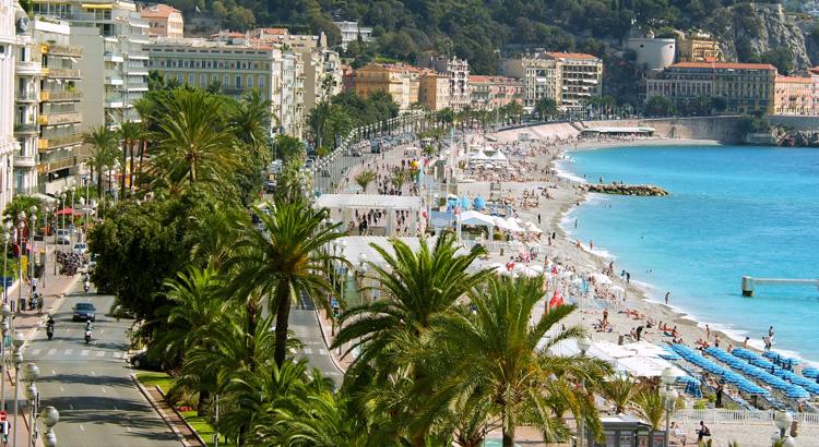 Παραλία στη Νίκαια της Γαλλίας