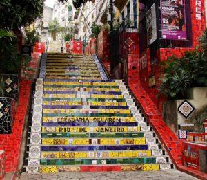 Ρίο ντε Τζανέριο - Γειτονιά Lapa - Escaderia Selaron