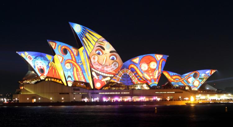 Φεστιβάλ Βιβίντ με φώτα στο Σίδνεϋ της Αυστραλίας
